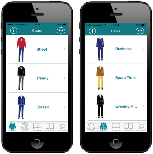 Emiut Casual and Formal Style screen app