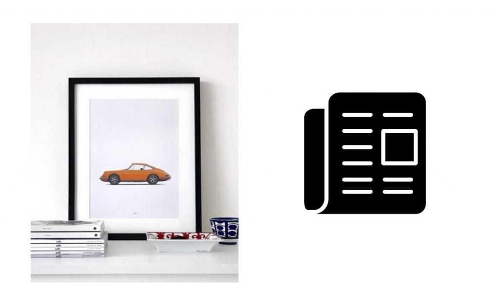 Automotive illustrations and prints Petrolified porsche