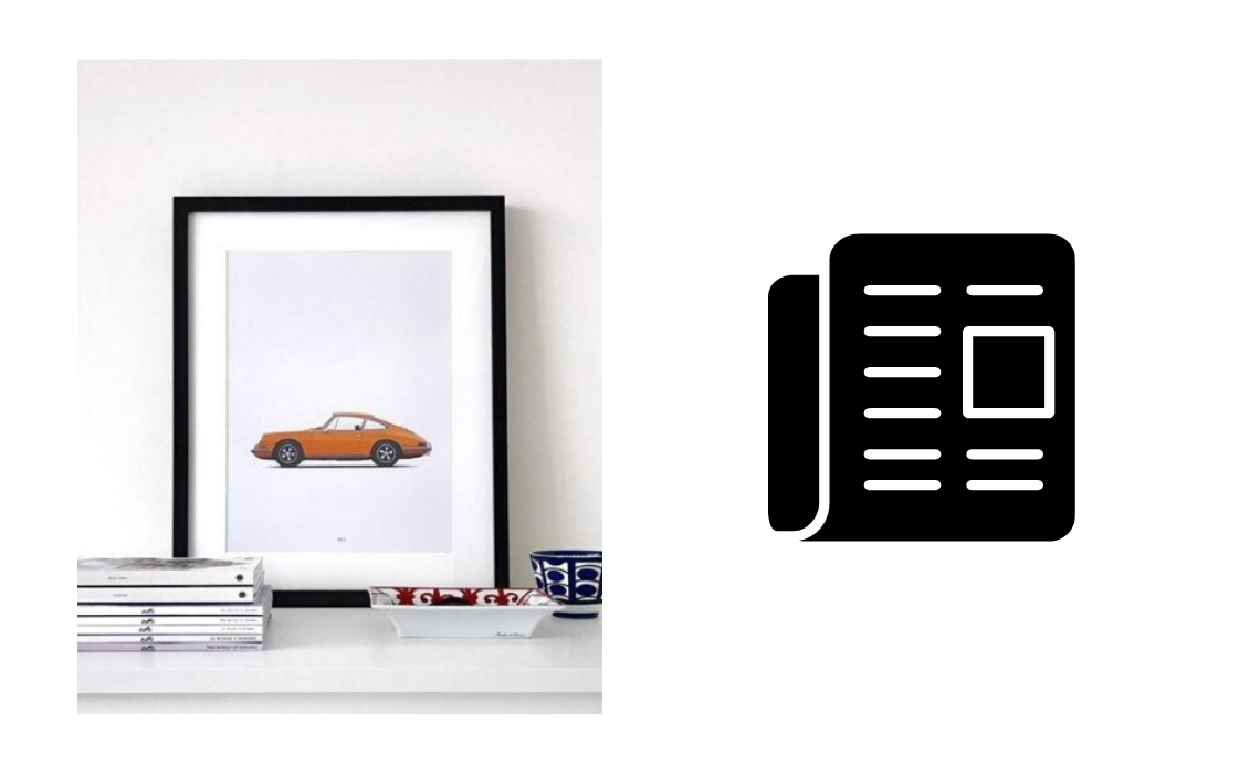 Automotive illustrations and prints Petrolified porsche